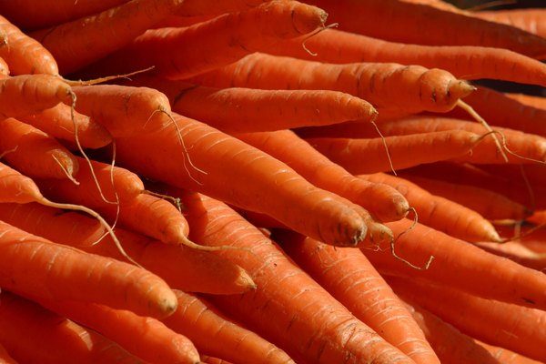 Carrots are a rich source of beta-carotene.
