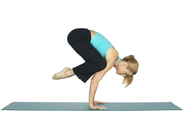 Knee on Elbow Yoga Pose - Woman