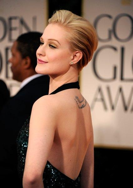 A atriz Evan Rachel Wood tem uma tatuagem secreta na parte interna do lábio