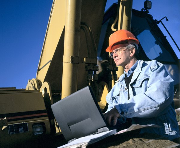 Engineer on a computer