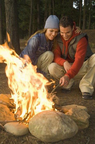 A campfire is an exothermic process.