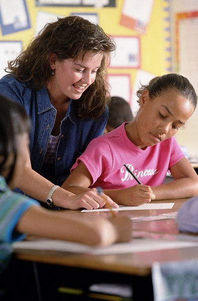 Aides may work one-on-one with students.