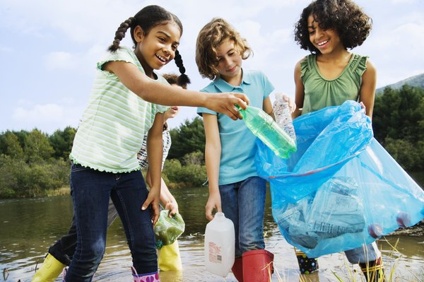 Many plastic bottles are recycled.