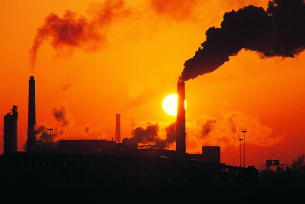 Power plant emissions contribute to the greenhouse effect.