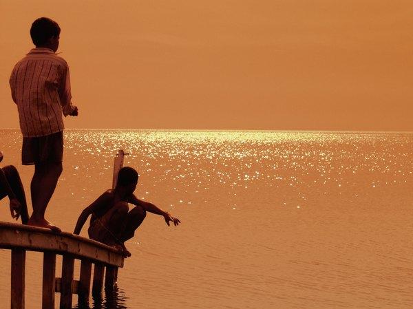 O pôr do sol é uma das atrações de Santa Marta