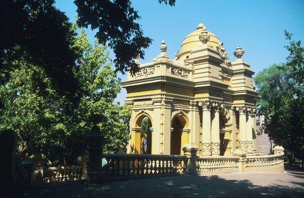 No Cerro Santa Lucía, é possível ter uma vista panorâmica de Santiago