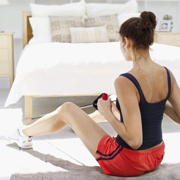 Resistance band workouts can help strengthen the hip flexors.