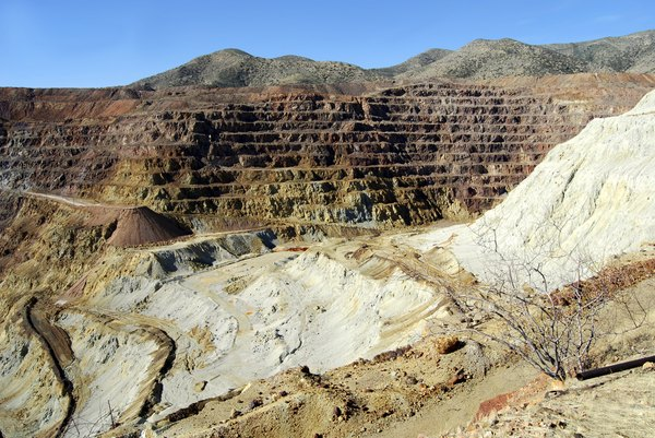 Open pit copper mine in Chile