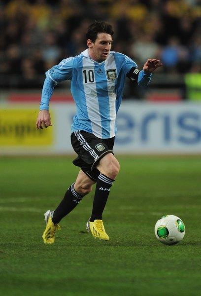 Messi, jogador da seleção argentina