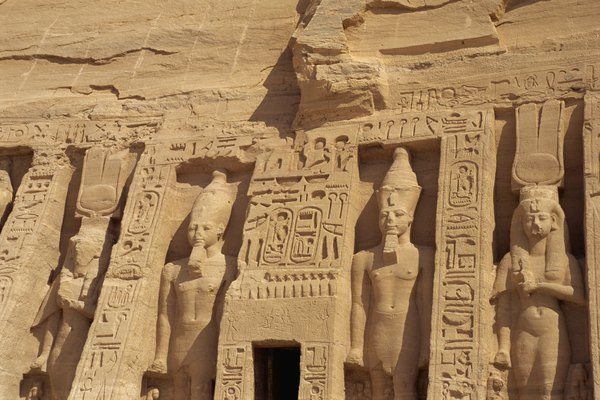 Stone quarries were essential to ancient Egyptian monument construction.