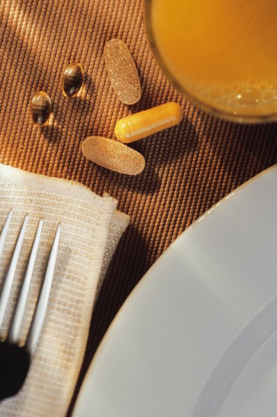 Multivitamins can be taken with orange juice.
