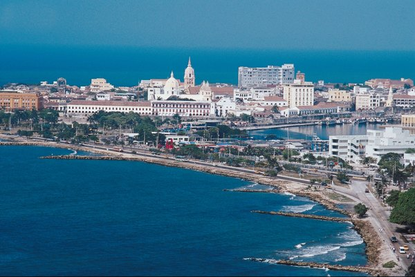 Patrimônio da Humanidade: vista de Cartagena, na Colômbia