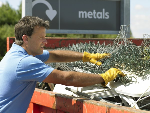 man at scrap metal company