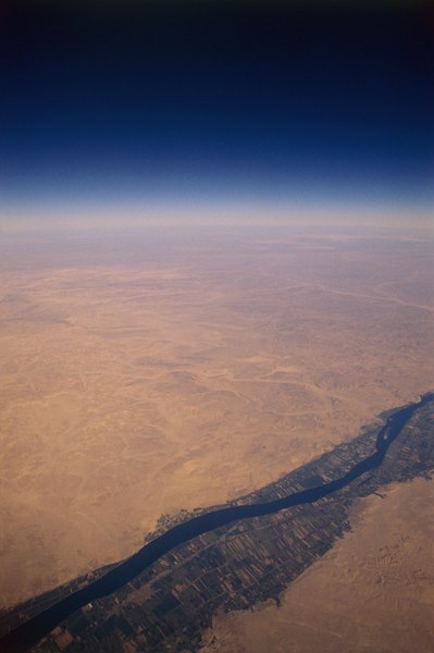 The Nile River's banks were fertile, rich areas of dark soil.