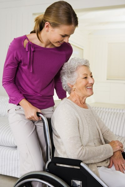 Teaching caregivers to use your equipment is part of the job of a home medical equipment delivery technician.