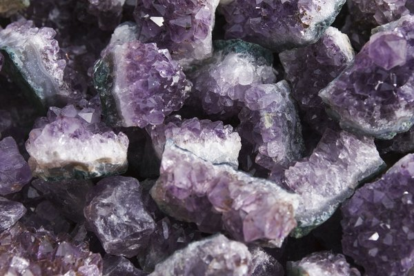 Crystals are found in the ground.