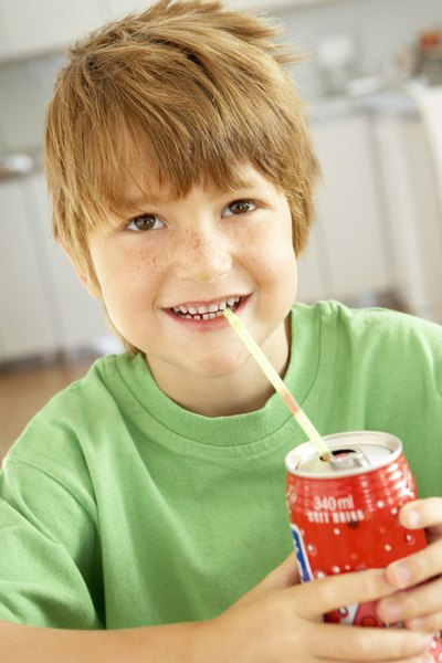 One can of soda provides three times a child's daily limit for added sugars.