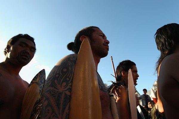 Los maoríes se dividían en siete tribus.