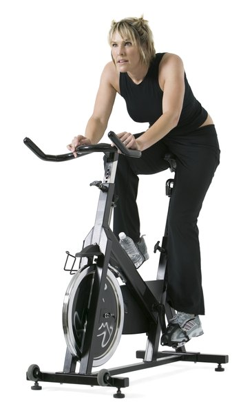 Riding Stationary Bike