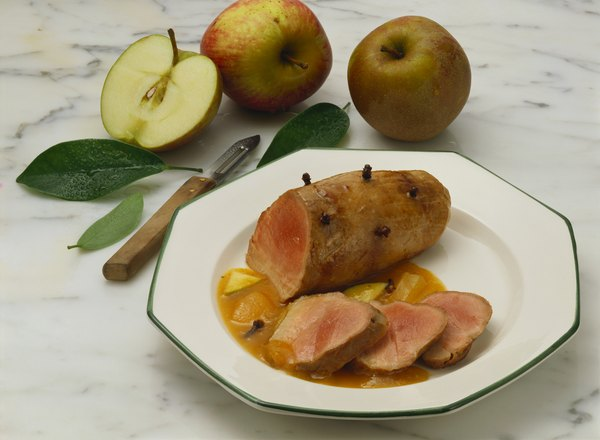 Las manzanas y el cerdo son una combinación clásica.