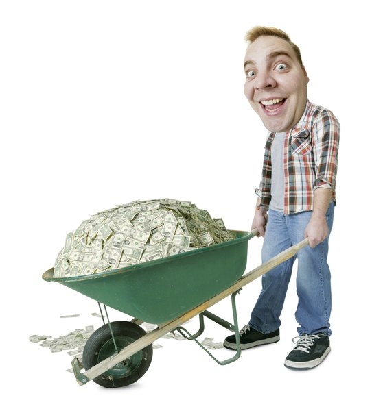 Image result for wheelbarrow of money