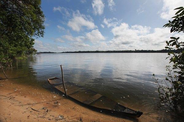 O Rio Amazonas corta nove países da América do Sul