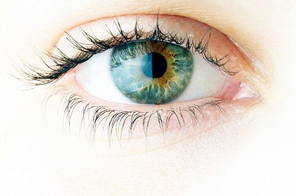Light enters the pupil.