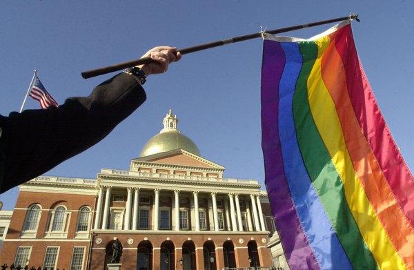 La bandera del orgullo gay.