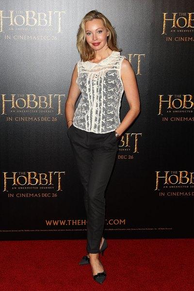 Atriz Kimberley Davies na estreia de 'O Hobbit: Uma Jornada Inesperada', em 18 de Dezembro de 2012,  Melbourne, Austrália.