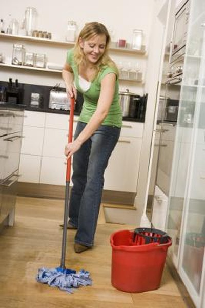 Easy No Streak Floor Cleaning Techniques Home Guides SF Gate - Streak free tile floor cleaner recipe