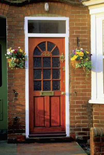 How To Refinish A Stained Varnished Exterior Door Home Guides