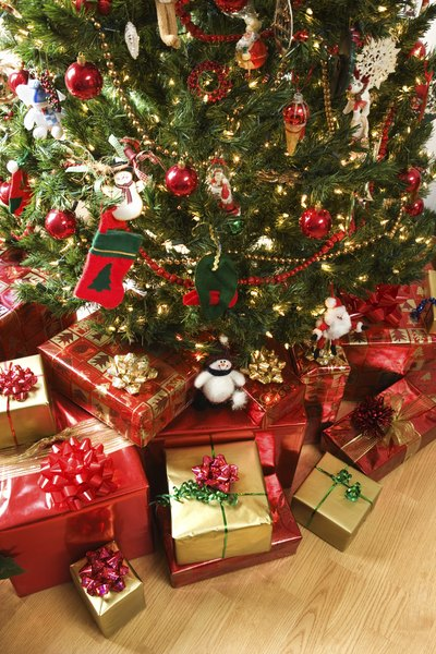 the tree is an integral part of the christmas decor - Log Cabin Christmas Decorations