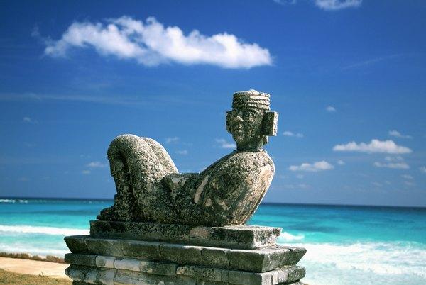Ruínas arqueológicas em Cancún, México