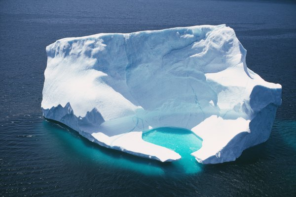 Melting fresh water iceberg in the ocean