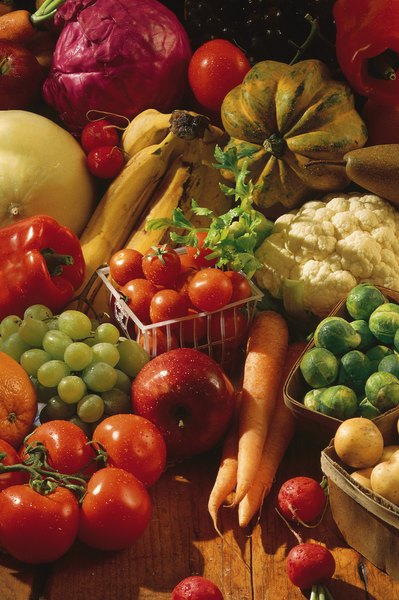 Fresh vegetables, including tomatoes, are a good source of potassium.
