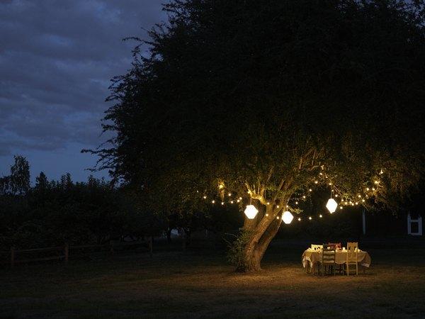 Varias compañías ofrecen líneas completas de iluminación para exterior y el jardín con energía solar que no requiere cableado.