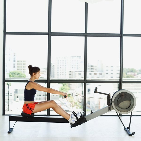 The Proper Form While Using a Rowing Machine - Woman
