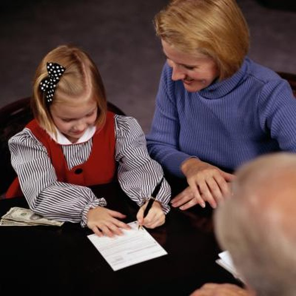 Adults can establish savings accounts on behalf of minors.