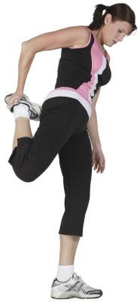 Side Lying Quad Stretch - Woman