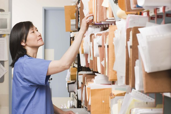Medical Office Records Training Procedures Woman