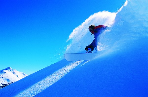 once you learn to carve on intermediate runs you can advance to steeper and backcountry