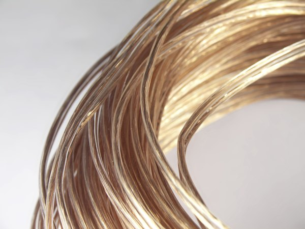 A spool of copper wire.