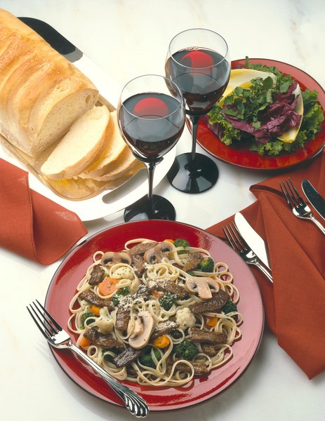 Beef stroganoff contains protein, B vitamins and other nutrients, but is also high in fat and calories.