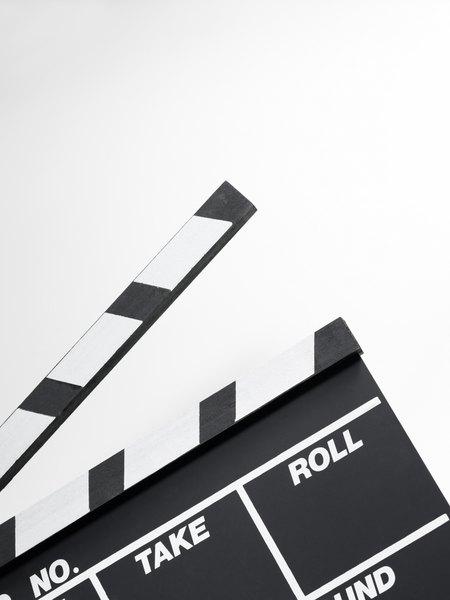 Claqueta de cine utilizada durante el rodaje.