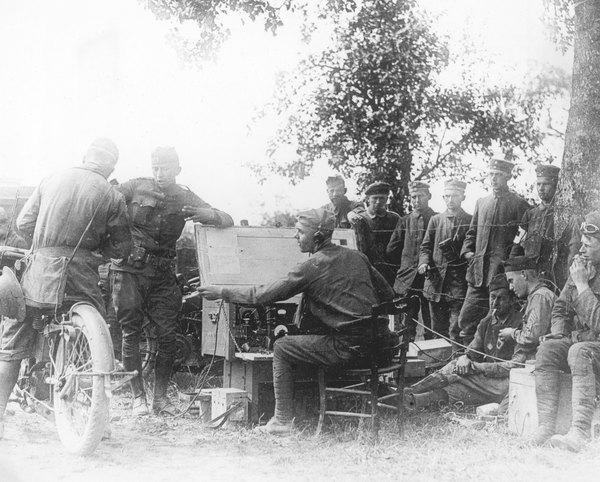 Soldados en el frente francés durante la Primera Guerra Mundial.