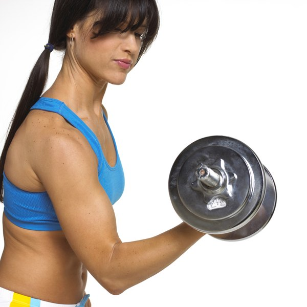 How to exercise the large muscles first woman smaller muscles get an end of workout boost with the biceps curl altavistaventures Choice Image