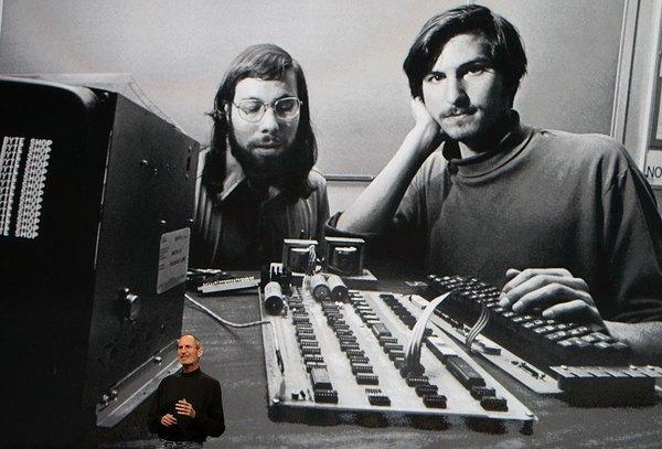 Steve Jobs y Steve Wozniak durante los inicios de Apple.