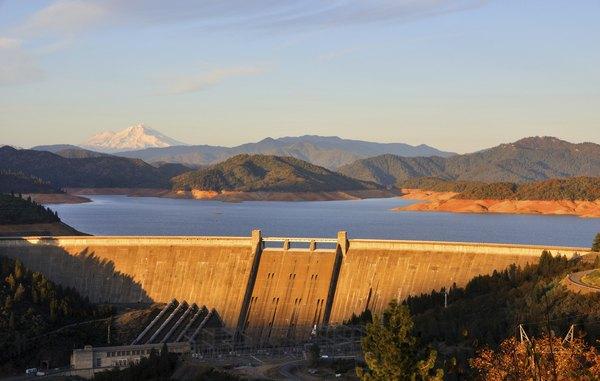 Shasta Dam with Mt. Shasta in the background