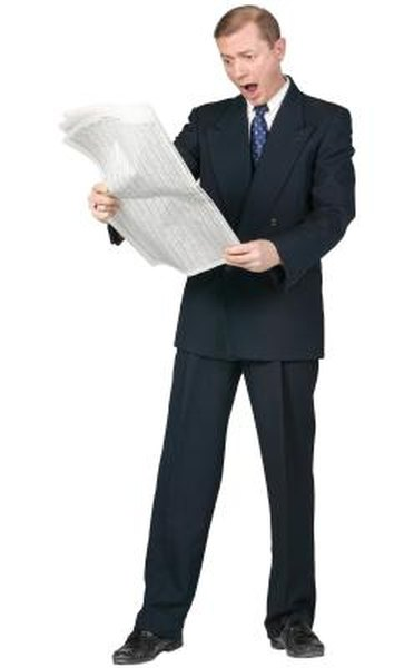 Mutual fund tables can be found in the business section of the newspaper.