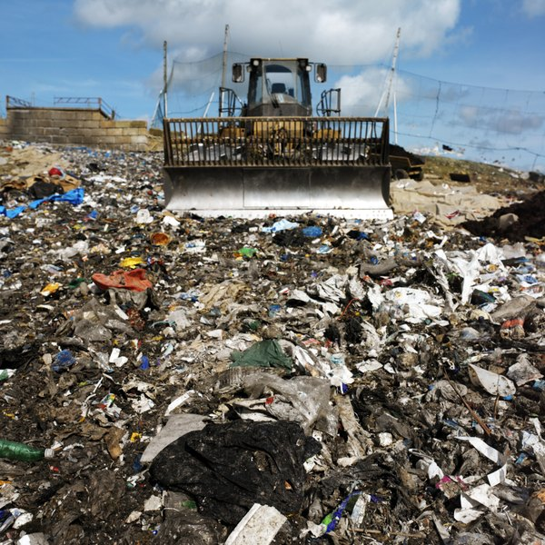 Plastic items buried in landfills may take many centuries to biodegrade.